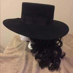 Accessories - Wide Brim Hat - Beyonce Formation Style 100% Wool